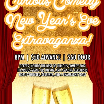 Curious Comedy New Year's Eve Poster