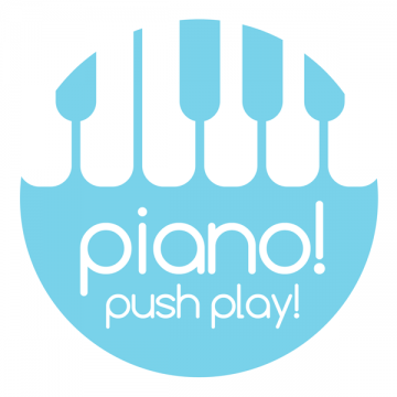 Piano! Push Play Logo
